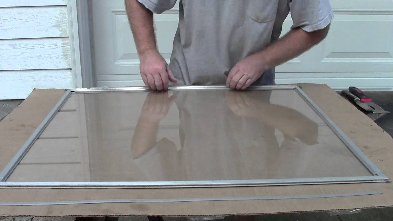 Replacing storm window glass youtube eventelaan Gallery