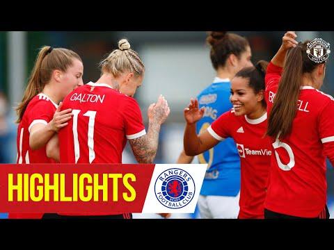 Women's highlights |  Rangers 0-5 Manchester United |  Preseason 2021/22