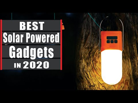 Best 7 Solar Powered Gadgets for Camping & Outdoors.(Buying Guides)