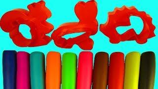 Развивающее видео для малышей Учим цвета с пластилином Лепим животных Формы для пластилина Плей До