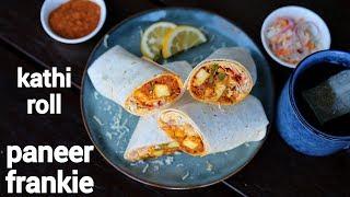 paneer frankie recipe with frankie masala  paneer kathi roll  पनर कठ रलस  paneer wrap recipe