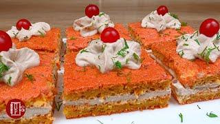 Обалденная Закуска для Праздничного Стола Свекольные Пирожные с Начинкой из Рыбы