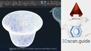 Reverse engineering for beginners.  AutoCAD, video 1. Import 3d scan data into AutoCAD