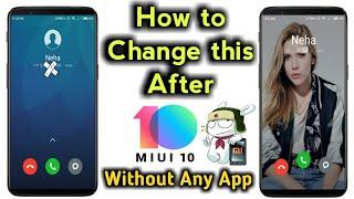 How To Change Backgroud Wallpaper In Caller Screen Miui Xiaomi