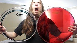 Drumhead Comparison | Evans EC2 vs Hydraulic