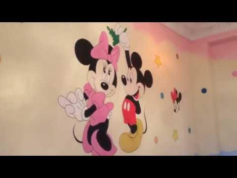 افكار صباغ غرف اطفال قبل وبعد من تصميم جداريات ضوء القمر Youtube