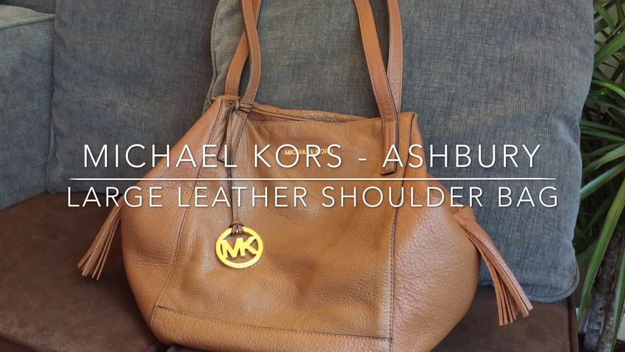 2a8aa4fd96d1 Michael Kors - Ashbury Leather SHOULDER Bag - YouTube