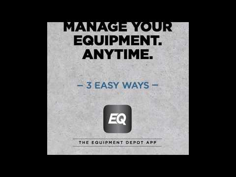 Equipment Depot App - Manage Your Equipment