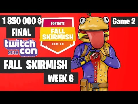 Fortnite Fall Skirmish Week 6 Grand Final Game 2 Highlights - Fortnite TwitchCon