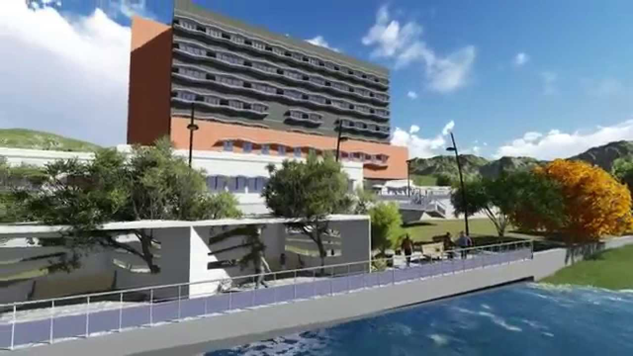 3d architectural walkthrough proposed 3 star hotel for Hotel design 3 stars