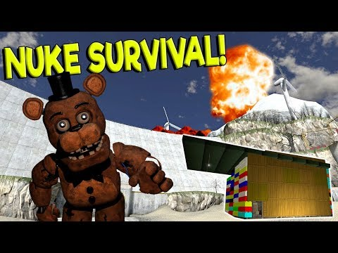 NUKE SURVIVAL VS LEGO BASE CHALLENGE! - Garry's Mod Gameplay - Gmod Nuke Base Building