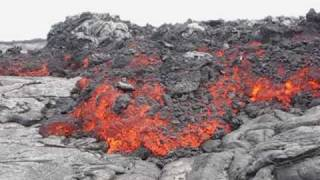 Kilauea a'a Shield Flow June 1, 2010