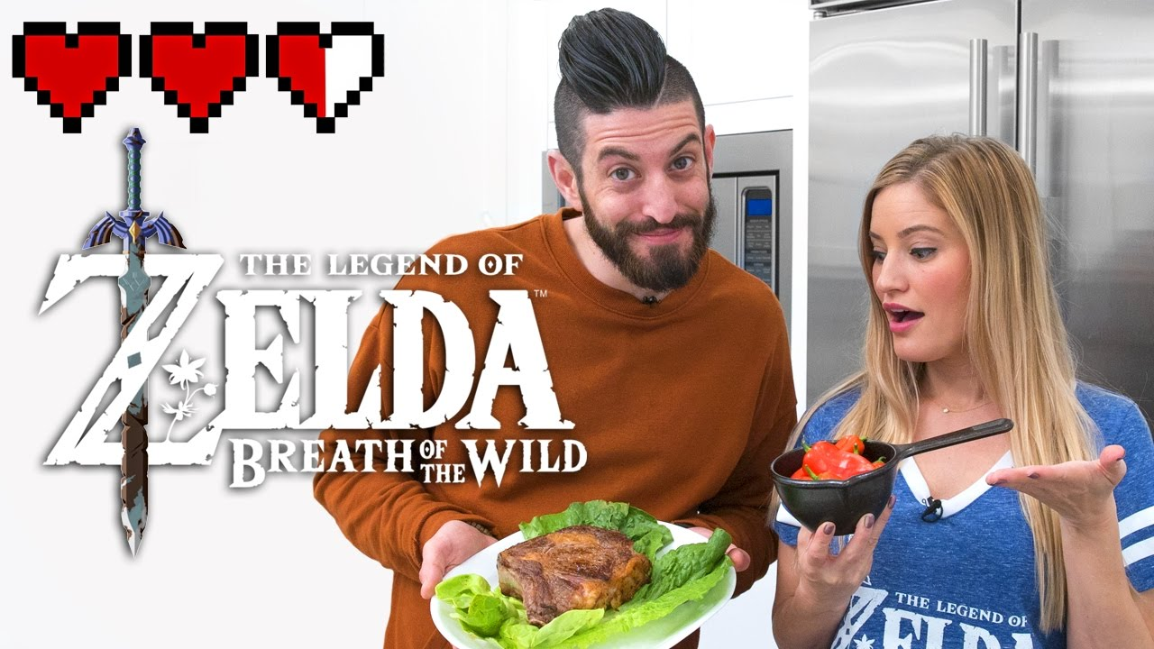 Cooking Food From Zelda Breath Of The Wild Game Youtube