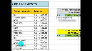 Excel 2007 - Função CONT.SE e SOMASE