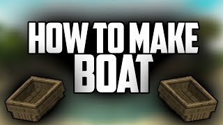 How to Make Boat in Minecraft