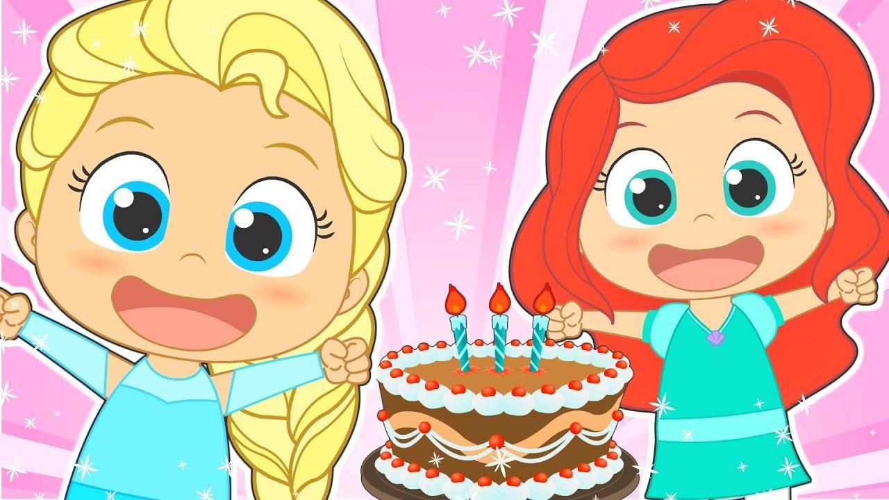 HAPPY BIRTHDAY With Disney Princess