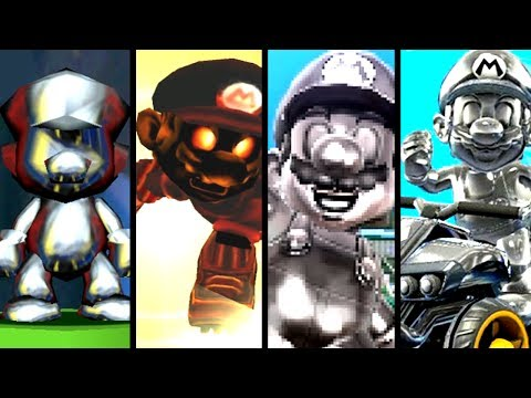 Super Mario Evolution of METAL MARIO 1997-2017 (Switch to N64)