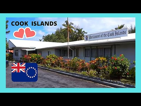 COOK ISLANDS, the Parliament building in the island of Rarotonga (Pacific Ocean)