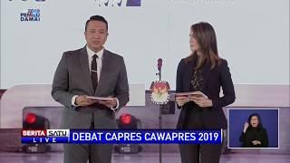 Moderator Bacakan Tata Tertib Debat Capres Perdana