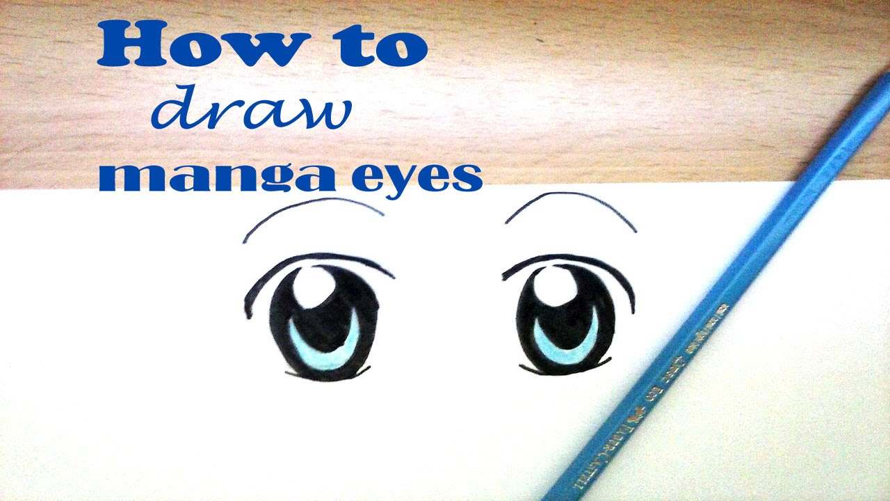 Drawing Tutorial | How to draw normal manga eyes - YouTube