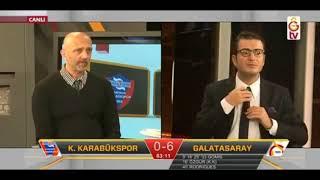 Karabükspor 0 7 Galatasaray  Sinan Gümüşün golü anında GS TV 3 Mart 2018