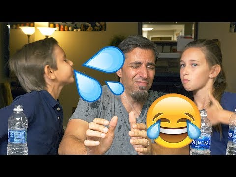 Try Not To Laugh Mouthful of Water Challenge | Josh Darnit