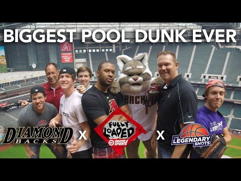 Biggest Pool Dunk EVER | Ft. Legendary Shots, Arizona Diamondbacks