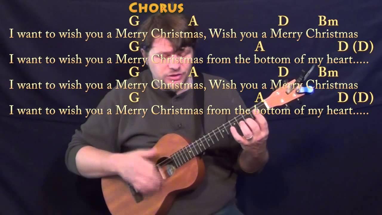 Feliz Navidad Bariuke Cover Lesson With Chords And Lyrics G A D