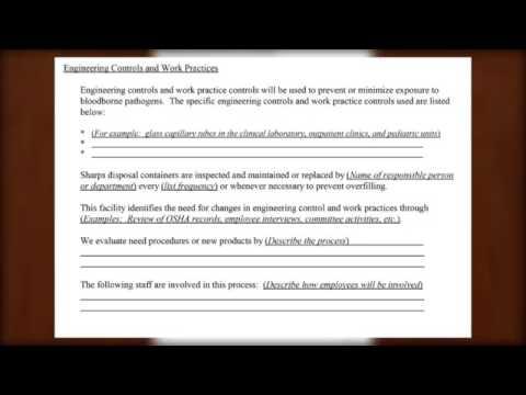 EXPOSURE CONTROL PLAN EXAMPLE - YouTube