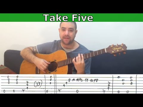 Fingerstyle Tutorial: Take Five - Guitar Lesson w/ TAB