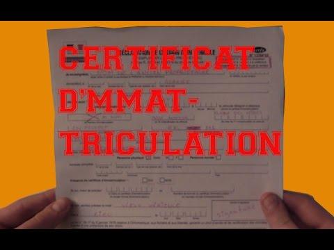 Remplir Un Certificat D Immatriculation De Mobylette Tuto 3