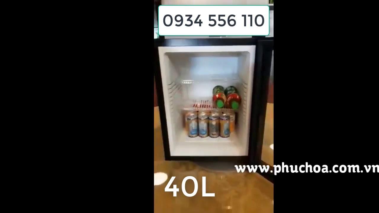 tủ mát khách sạn Homesun cánh kính trong - YouTube