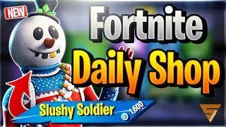 Fortnite Daily Shop *NEW* SLUSHY SOLDIER SKIN (14 Dezember 2018)