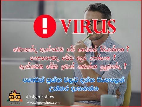 SL GEEK| සිංහලෙන් - Types of virus and methods of infections Full tutorial in Sinhala