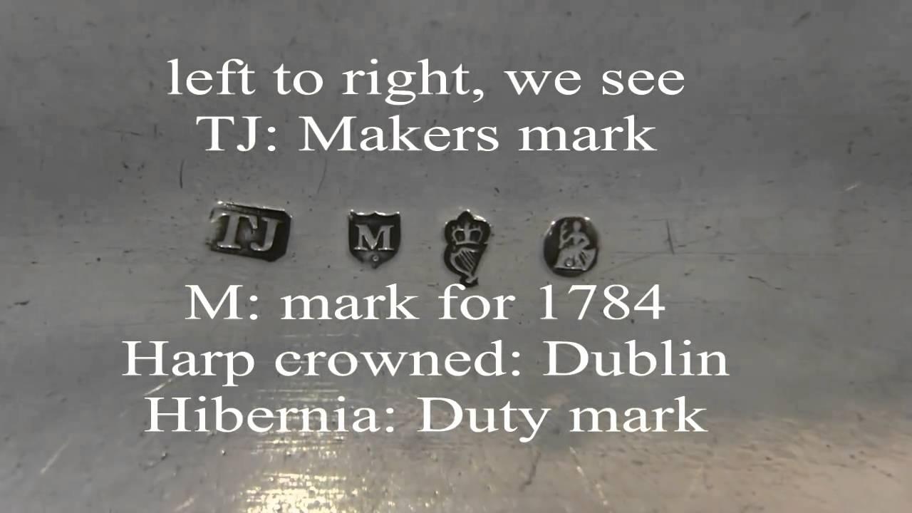 Irish Silver Hallmarks Guide - Weldons of Dublin
