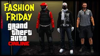GTA 5 Online FASHION FRIDAY + New Clothes Glitch! (Motorcycle Gear, Silent Hacker & The Mechanic)