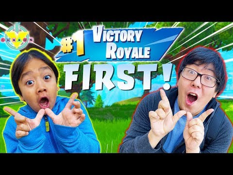 RYAN WINNING FORTNITE FRIDAY! Ryan Vs Daddy Let's Play Fortnite Battle Royale