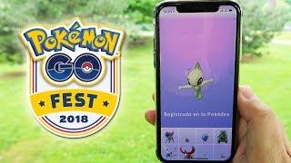 ¡CAPTURO CELEBI! NUEVO POKÉMON MÍTICO en el Pokémon GO Fest 2018!! [Keibron]