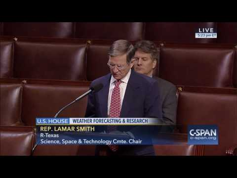 Chairman Smith Speaks on Weather Research and Forecasting Bill