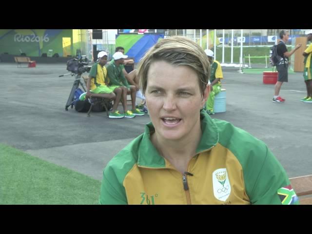 Sunette Viljoen on her Silver medal