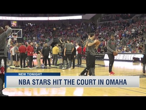 NBA Stars Hit The Court In Omaha