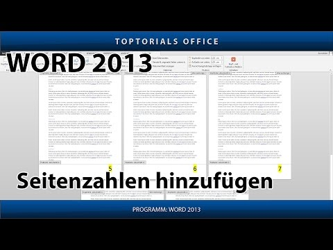 Seitenzahl / Seitennummer Hinzufügen (Microsoft Word)