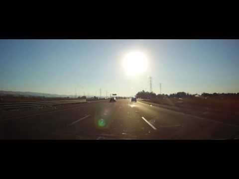 Driving on I205 & I580 from Tracy to Dublin, California