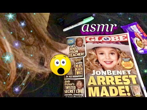 Quiet ASMR whisper 🎧. The Globe Tabloid Magazine, browsing & commenting