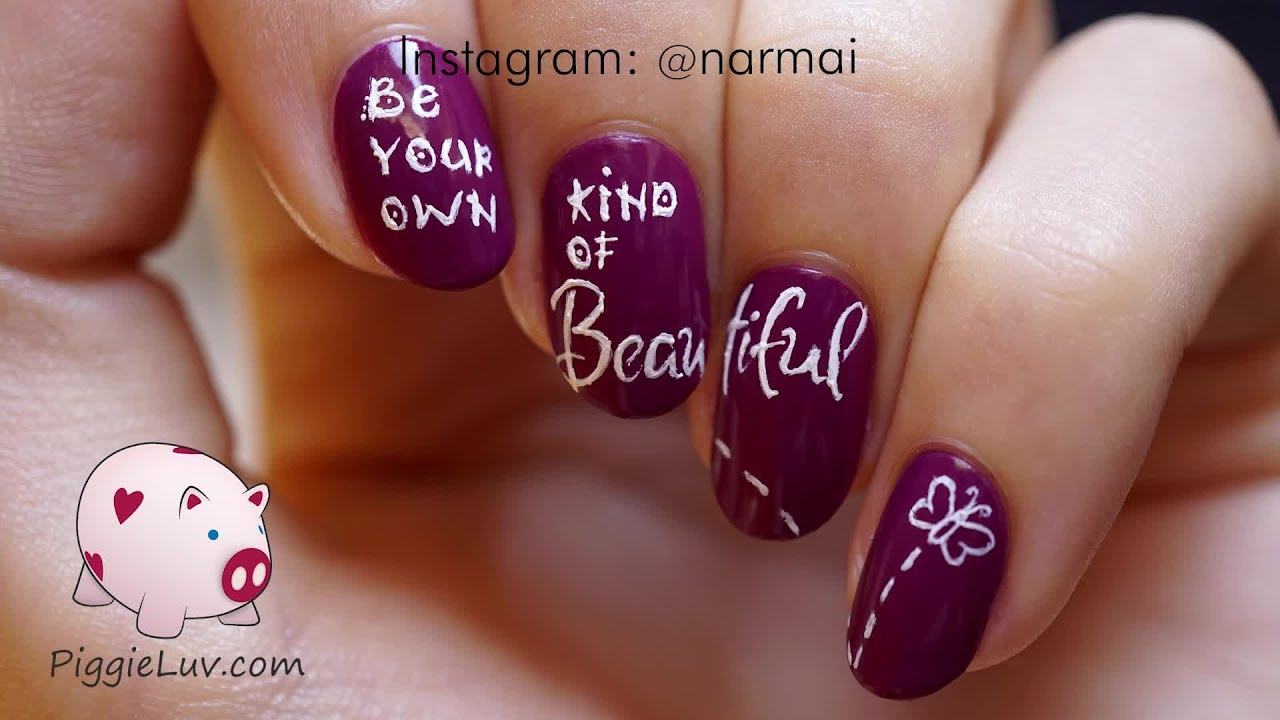 Your own kind of beautiful nail art tutorial youtube