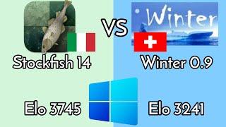 Stockfish 14 Vs Winter 0.9 Strong new engines | Windows match | World Computer chess Champ | NNUE screenshot 1
