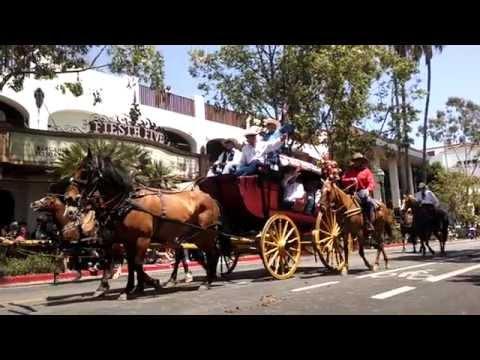 Fiesta week parade in Santa Barbara