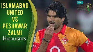 PSL 2017 Match 12: Islamabad United vs Peshawar Zalmi Highlights