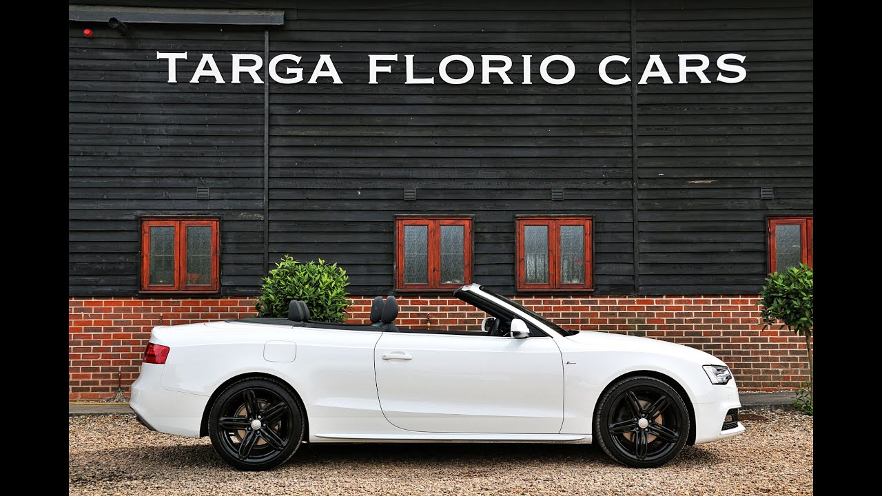 Audi a5 convertible 2 0 tdi 177ps s line special edition for sale in ibis white london uk youtube - White audi a5 coupe for sale ...