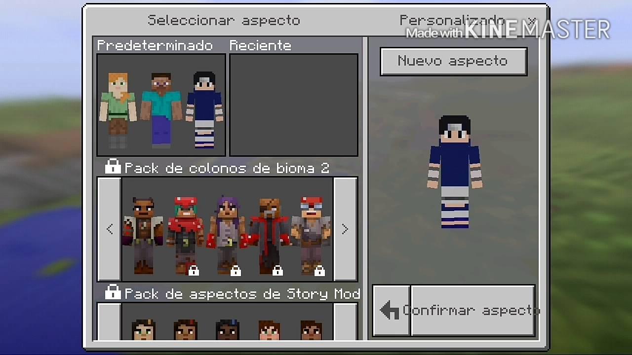 Pack de skins de sasuke uchiha // Minecraft PE 8.8.8 // By